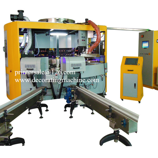 3 Color CNC Glass Bottle/Mug Screen Printer CNC03