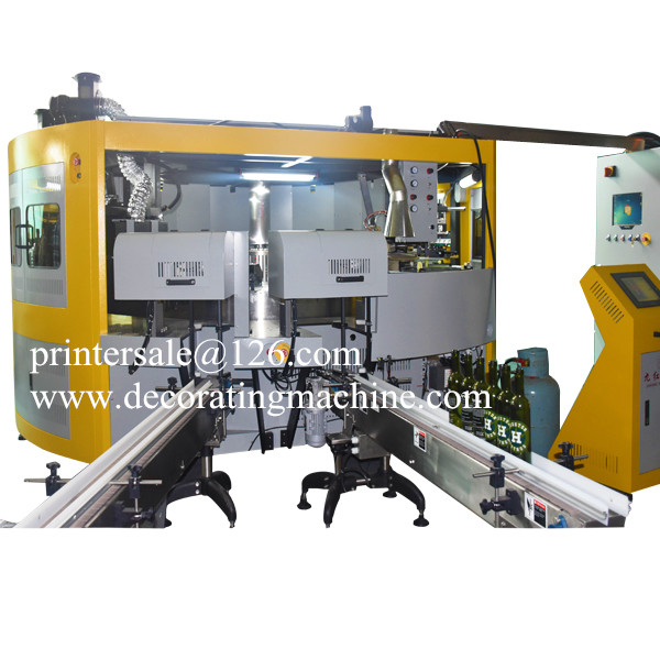 5 Color Glass Wine Bottle Screen Printing Machine CNC05